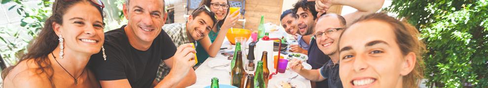 afrontar comidas familiares y amigos
