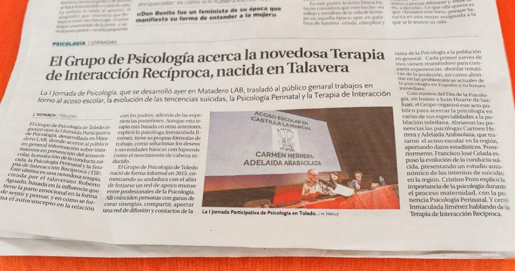jornadas psicología Toledo en periódico Tribuna